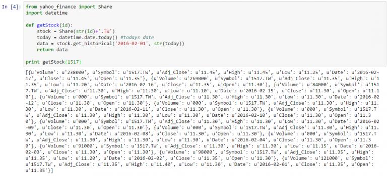 yahoo finance 768x351 - [Python] 利用 Yahoo Finance API 抓取歷史股價