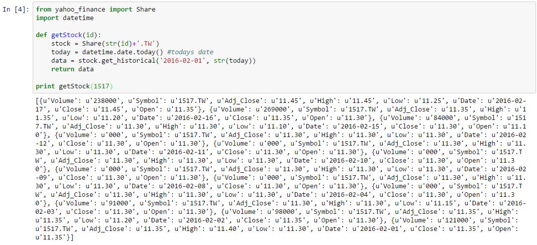 Python] 利用Yahoo Finance API 抓取歷史股價- 傑瑞窩在這
