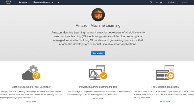 aws ml2 768x420 - 透過範例告訴你如何使用 AWS 機器學習服務:Amazon Machine Learning
