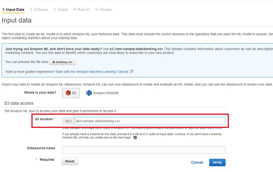 aws ml4 - 透過範例告訴你如何使用 AWS 機器學習服務:Amazon Machine Learning