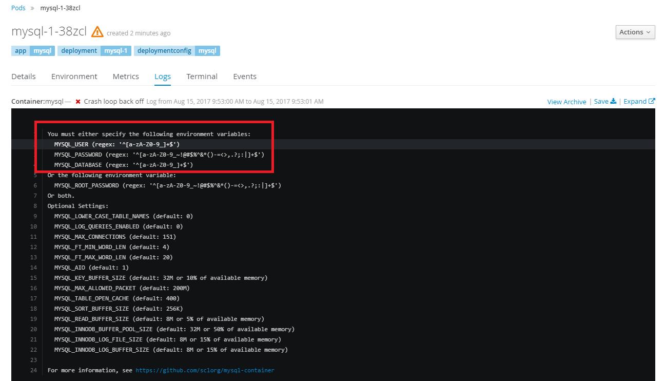 openshift3 error2 - [教學] 使用 Openshift (v3) 架設 WordPress