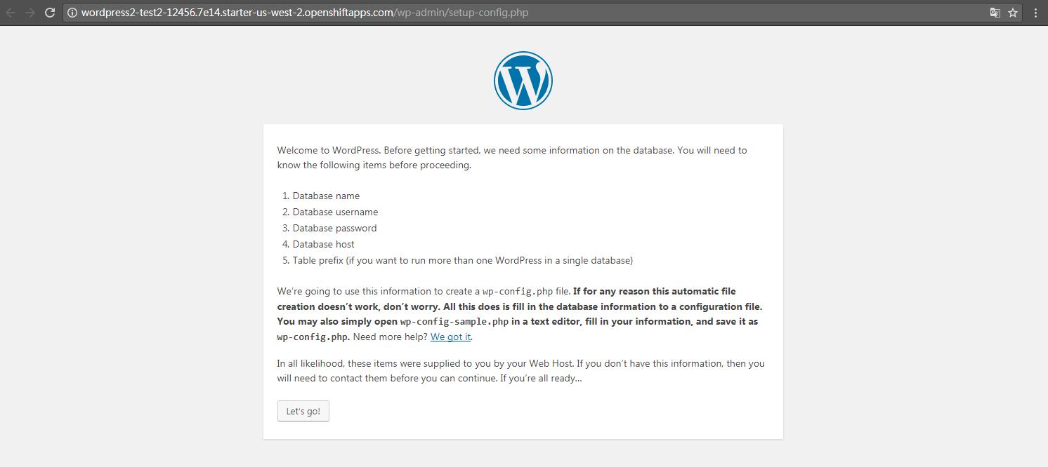 os3 wp1 - [教學] 使用 Openshift (v3) 架設 WordPress