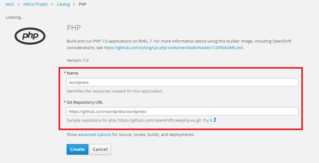 php2 - [教學] 使用 Openshift (v3) 架設 WordPress