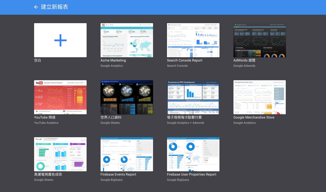 data studio2 - 使用 Google Data Studio 數據分析工具,輕鬆打造 Google Analytics 視覺化報表