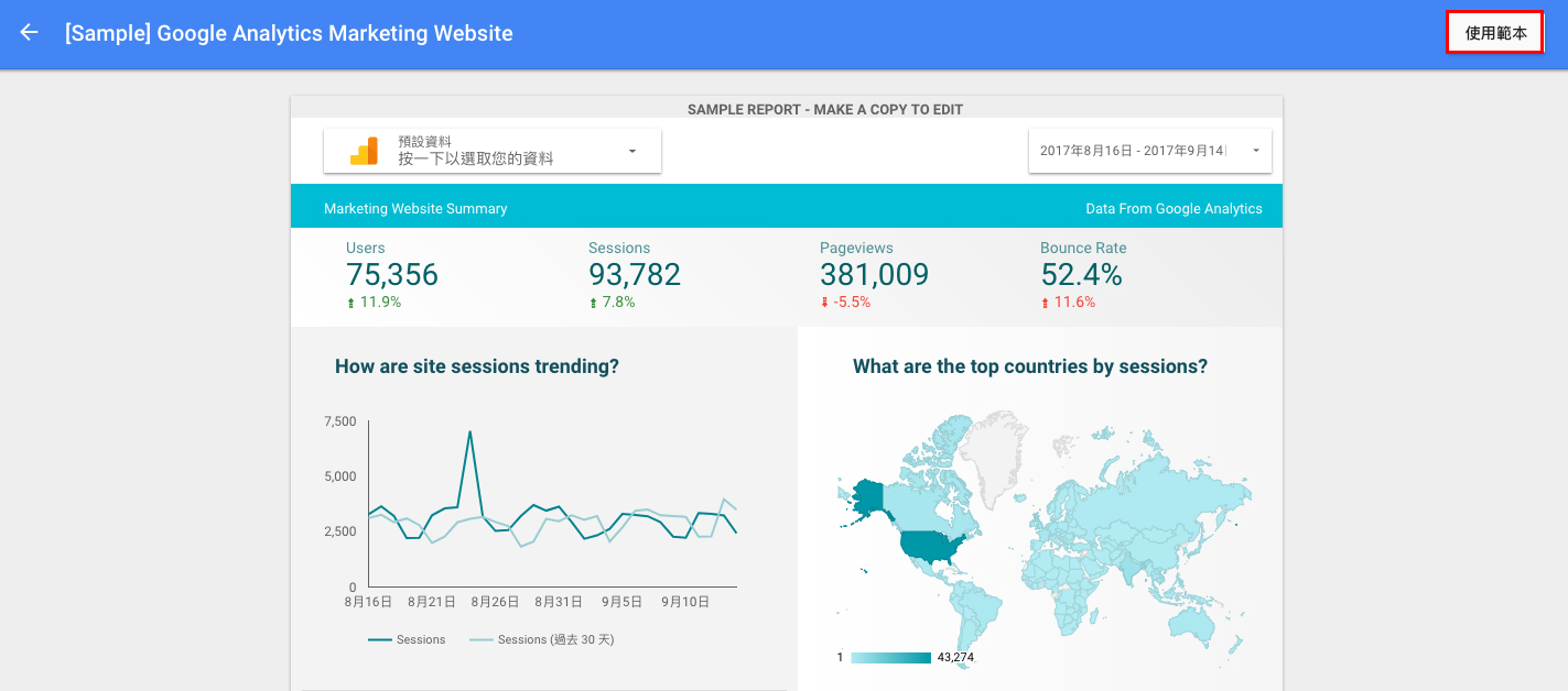 data studio3 - 使用 Google Data Studio 數據分析工具,輕鬆打造 Google Analytics 視覺化報表