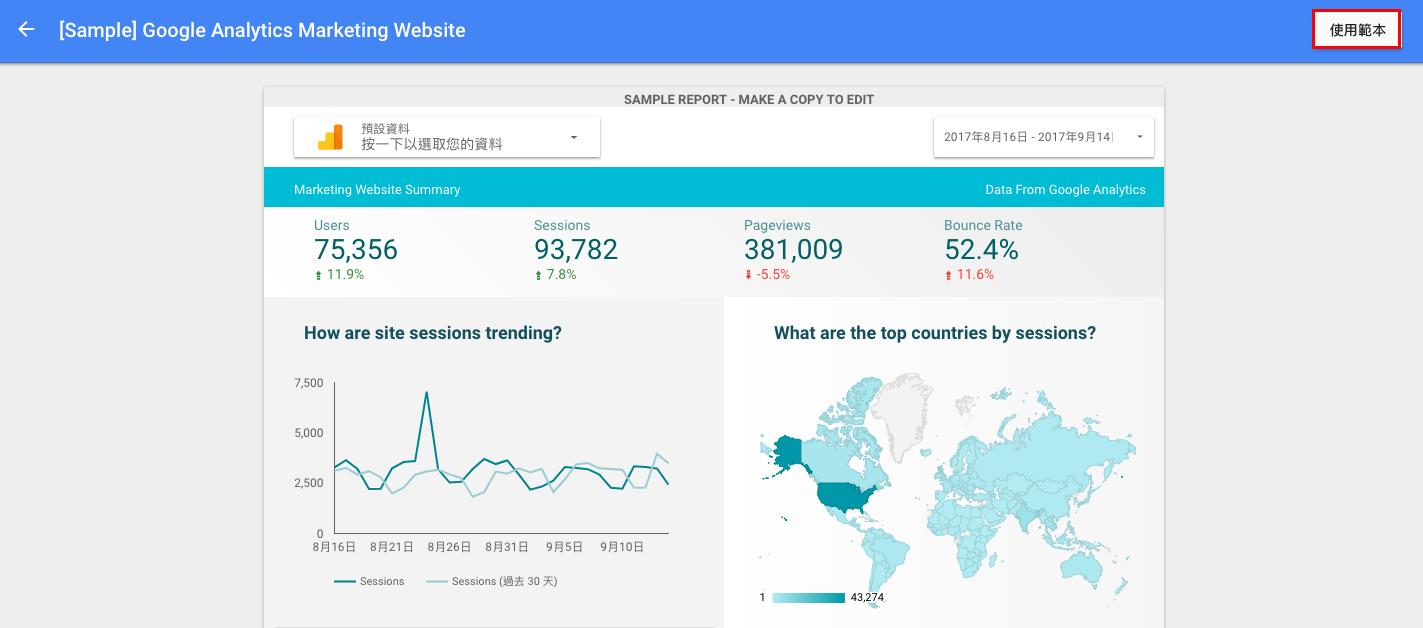 data studio3 - 使用 Google Data Studio 數據分析工具,輕鬆打造 Google Analytics 視覺化報表
