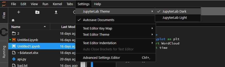 jlab dark - 資料分析工具 JupyterLab Beta 來囉!開大檔案不卡頓,支援多人協作
