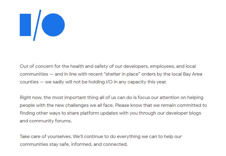googleio - 2020 愚人節 Google 宣布暫停惡搞活動