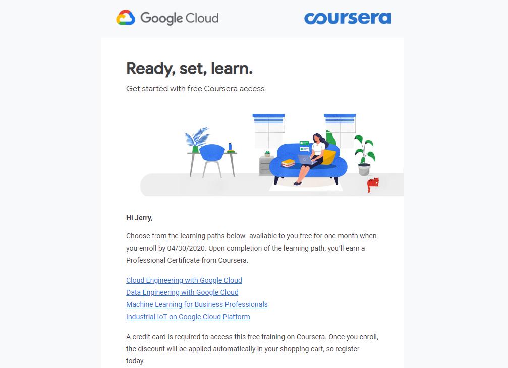 gcp training2 - Google 免費培訓優惠與 Coursera 課程心得分享:Cloud Architecture with Google Cloud 專業證書