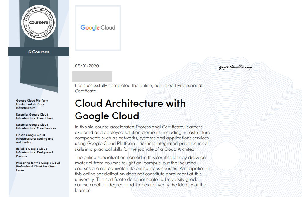 gcp training4 - Google 免費培訓優惠與 Coursera 課程心得分享:Cloud Architecture with Google Cloud 專業證書